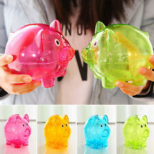 Saving Box Pig Cute Plastic Piggy Bank Coin Money Cash Collectible Toy Kids Gift