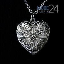 Damen Hals Kette Medallion Schmuck Herz 925 Sterling Silber Liebe Foto Bilder