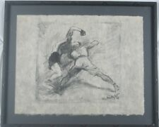 1978 Boxing Graphite Pencil Drawing by Unknown Artist