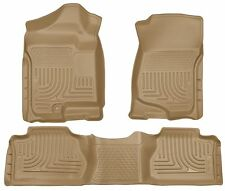 Husky Liners WeatherBeater Floor Mats- 3pc- 98213 - Silverado/Sierra X-Cab - Tan