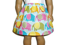 "Colorful Elephants Skirt fits American Girl 18"" Doll Clothes"