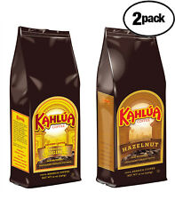 Kahlua 1 Hazelnut & 1 ORIGINAL Gourmet Ground Coffee 2 BAGS 12oz EACH