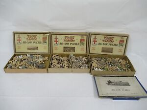 Vintage 1940's Chad Valley Wooden Jigsaw Puzzles Lot Of 3 C844