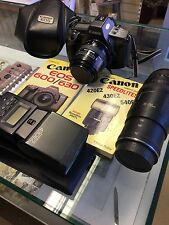 Fotocamera Canon EOS e lente Books SLR JOB LOT