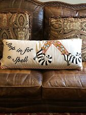 """Mackensie-Childs STEP IN FOR A SPELL Lumbar Pillow 35"""" X 14"""" Courtly Check NWT"""