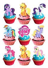 30 My Little Pony edible STAND UP Cupcake Fairy Cake Topper Edible Decorations