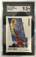 1991-92 Skybox Scottie Pippen #586 SGC 9.5 MT+! Chicago Bulls Jordan Last Dance