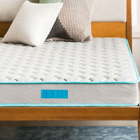 """6"""" BED MATTRESS IN A BOX TWIN Size Quilted Innerspring Support Comfort Sleep"""