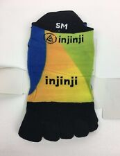 Injinji Toe Socks No Show Length Performance 2.0 Run Multicolor Size Small