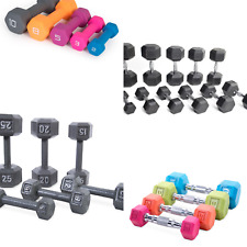 CAP Barbell Dumbbells Cast Iron Rubber, Hex in Multiple Colors 5 8 10 12 15 20 2