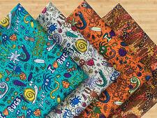 Bugs & Giraffe Print 100% Cotton Fabric *Fat Quarter Bundle* For Crafts,Quilts