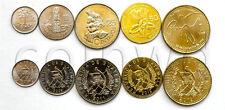 GUATEMALA 5 COINS SET 2009-2012 UNC (#670)
