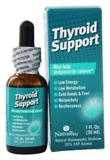 Thyroid Support 1 fl oz Liquid NatraBio - 24HR DISPATCH
