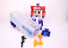 Masterpiece MP-10R MP10R Transparent K.O OPTIMUS PRIME CONVOY Toys with Trailer