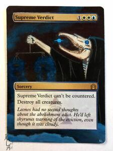 Supreme Verdict - Hand Painted MTG Alter - Magic - Kate Cart Art