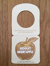 ABSOLUT VODKA ORIENT APPLE TAG from CHILE * NEW & COLLECTORS MINT * EXTREME RARE