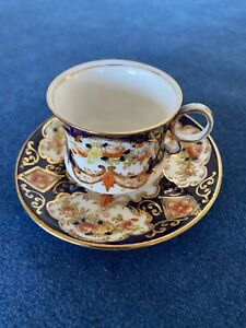 Royal Albert Miniature Cup & Saucer 4534 Heirloom Pattern 1970s