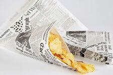 50 Spitztüten Fish & Chips Tüten Daily Telegraph Newspaper Tüten für Pommes
