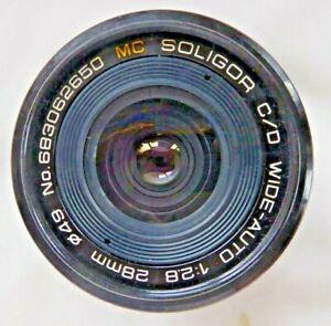 Soligor 28mm MC F2.8  Prime Lens Manual Focus to fit Minolta MD