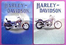 PAIR SWAP CARDS. HARLEY DAVIDSON SOFTAIL MOTORBIKES. HERITAGE & SPRINGER. MINT