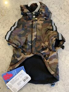 Small dog Raincoat new Extra Xs Small Pup Camo Reflective Adjustable Pet Life