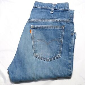 Vintage Levis 646 Bootcut Jeans Denim Orange Tab Label W 34 L30 medium wash