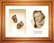 Neuf Kit de moulage bébé avec miel pin cadre - Ensemble pour 3D main et pieds
