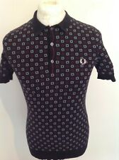 FRED PERRY MENS *DRAKE'S* KNIT POLO SHIRT XS