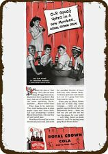 1941 ROYAL CROWN RC Vintage Look Replica Metal Sign - LITTLE RASCALS & BUCKWHEAT