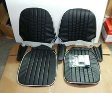 New Vinyl Seat Covers Upholstery Set Austin Healey Sprite Bugeye Black W White