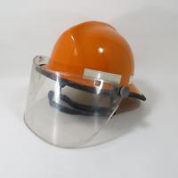 Vintage Cairns Orange Safety Fire Rescue Helmet Size 6.5-8 Paulson Shield Visor