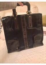 Francesco Biasia leather  Authentic bag,Black ,Italy