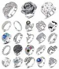 Fashion Round Cut jewelry 925 sterling silver Wedding Engagement Womens Ring