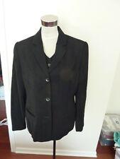 Amanda Smith Pant Suit  w Vest Sz 12 Black Career Business Long Sleeve - NWT