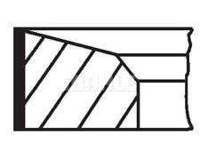 MAHLE ORIGINAL Piston Ring Kit 676 13 N0