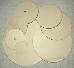 Runde Holzscheibe 4mm Sperrholz Untersetzer Kreisscheibe mit oder ohne Loch