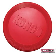 KONG Red Flyer Flexible Durable Frisbee Disc LARGE Dog Chew Fetch Toy USA MADE