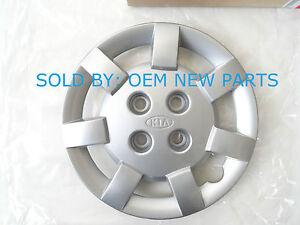 """2000-2002 KIA Rio 13"""" inch HubCap Wheel Cover SILVER 0K30D37170 NEW OEM"""