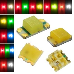 SMD LEDs 2 Chip STEUERBAR / DUO-LED Smds multicolour Bi-Color mini 0603... Lok