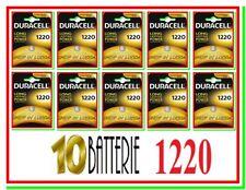 10 DURACELL 1220 Batterie Pile CR DL1220 CR1220 ECR1220 SB-T13 5012LC L04 PA