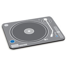 Brazo Giratorio Reproductor bandejas DJ Alfombra ratón ordenador PC GRIS BLANCO