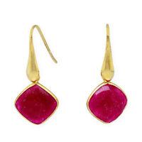 Castellano Jewels Pendientes con Rubies Naturales Plata 925