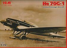 ICM 1/72 Heinkel He 70G-1 Blitz NEW