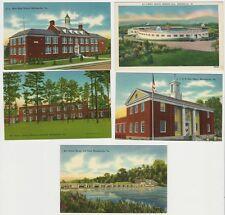 Lot of 5 Vintage Postcards - Views of Martinsville Virginia