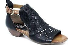 Miz Mooz Carey Sandals In Black Leather, Brand New, Wm Sz 40, Studded Design