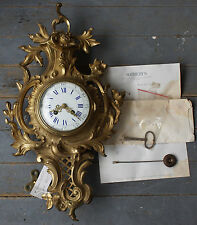 CHARLES HOUR Louis XV French Ormolu Wall Clock Sotheby's Appraised $1500 in 1983