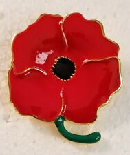 Red Poppy Brooch Pin Badge Broach Poppies X 4 Enamel rememberance day BROOCH