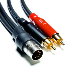 3m '5-pin DIN - RCA' - Gotham GAC-1 for NAIM, QUAD,etc