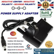 UK COMPATIBLE 9V AC NEGATIVE POWER SUPPLY ADAPTER FOR VOX V847 WAH EFFECTS PEDAL