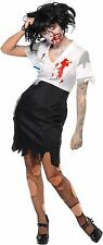 Sexy Office Secretary Zombie Worked to Death Smiffys Adult Womens Sassy Costume
